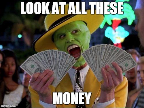 Money Money |  LOOK AT ALL THESE; MONEY | image tagged in memes,money money | made w/ Imgflip meme maker