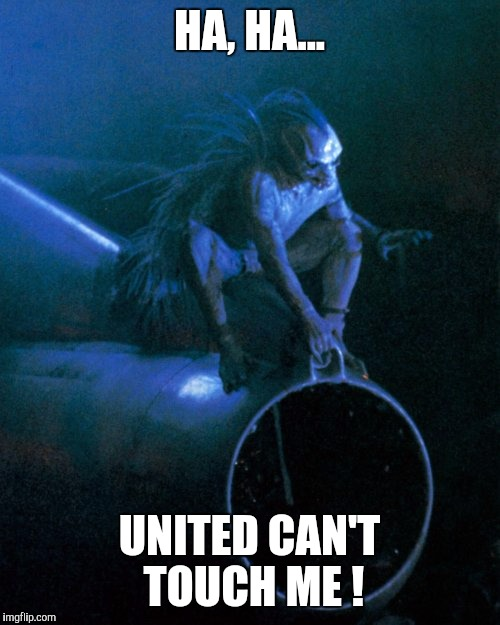 Think Outside The Box...er, PLANE | HA, HA... UNITED CAN'T TOUCH ME ! | image tagged in memes | made w/ Imgflip meme maker