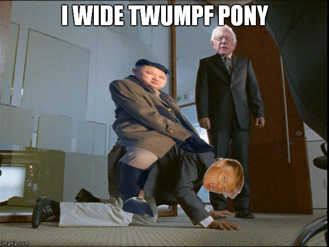 I WIDE TWUMPF PONY | made w/ Imgflip meme maker