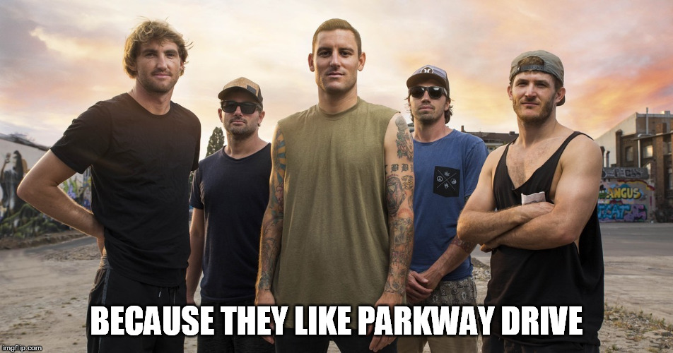 BECAUSE THEY LIKE PARKWAY DRIVE | made w/ Imgflip meme maker