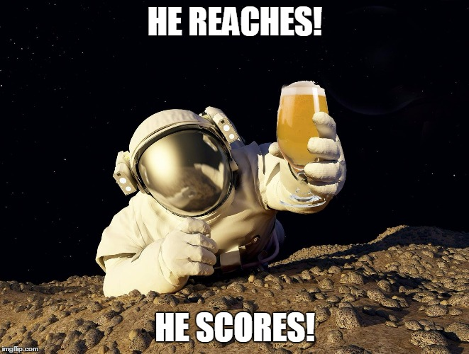 HE REACHES! HE SCORES! | made w/ Imgflip meme maker