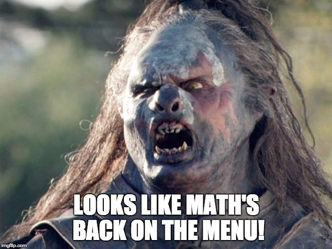 Math's back on the menu