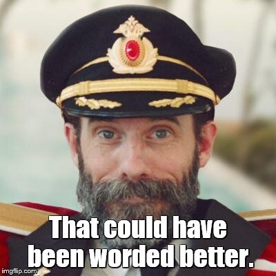 captain obvious | That could have been worded better. | image tagged in captain obvious | made w/ Imgflip meme maker