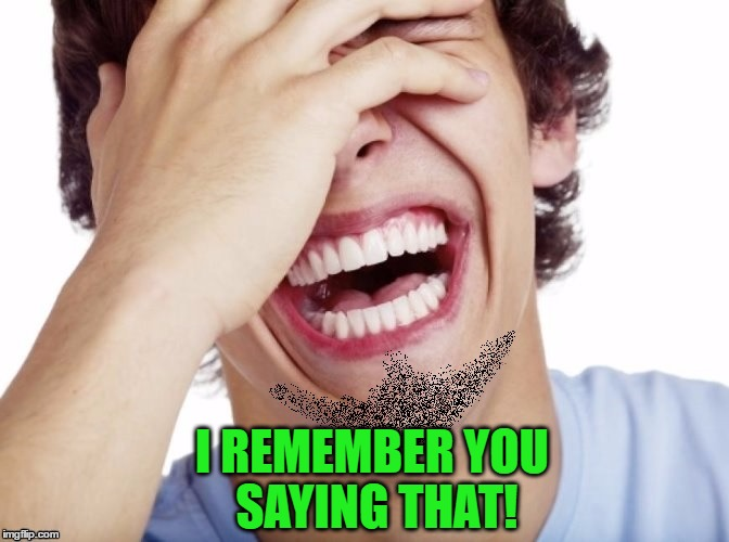 lol | I REMEMBER YOU SAYING THAT! | image tagged in lol | made w/ Imgflip meme maker