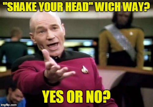 "Picard Wtf Meme | ""SHAKE YOUR HEAD"" WICH WAY? YES OR NO? 