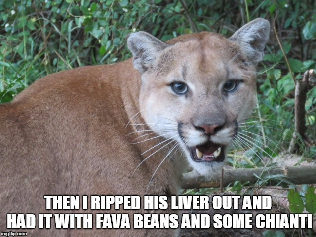 THEN I RIPPED HIS LIVER OUT AND HAD IT WITH FAVA BEANS AND SOME CHIANTI | made w/ Imgflip meme maker