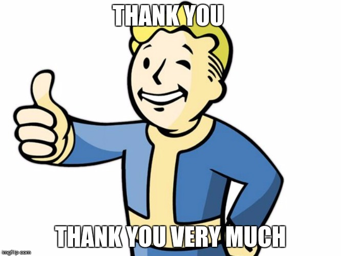 Fallout Boy! | THANK YOU THANK YOU VERY MUCH | image tagged in fallout boy | made w/ Imgflip meme maker
