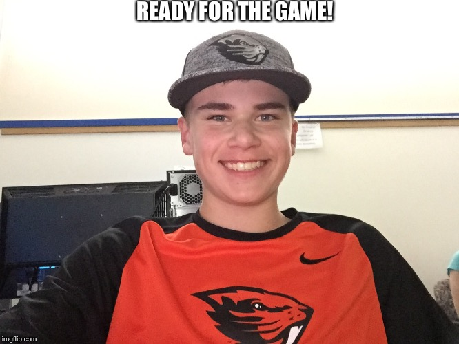 Mclebeaver | READY FOR THE GAME! | image tagged in mclebeaver | made w/ Imgflip meme maker