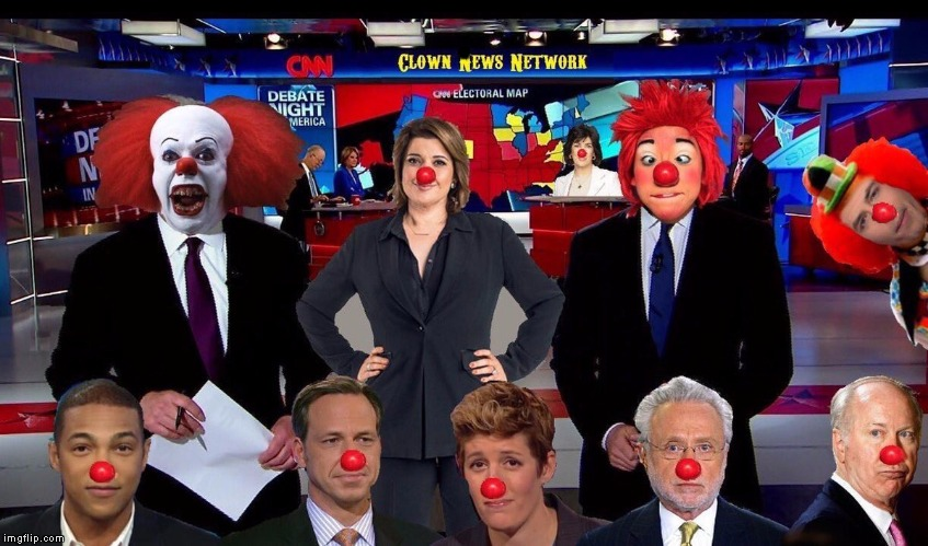 CNN: Clown News Network | . | image tagged in cnn clown news network | made w/ Imgflip meme maker