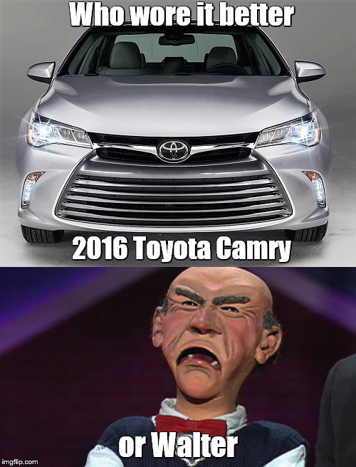 "Again with the ""angry face"" cars! 