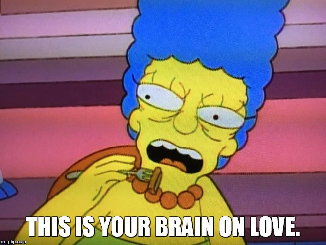THIS IS YOUR BRAIN ON LOVE. | made w/ Imgflip meme maker