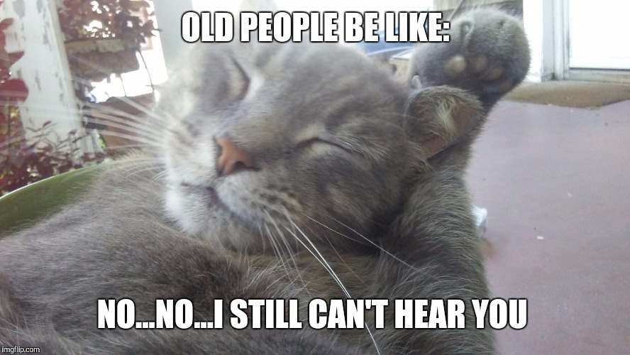 OLD PEOPLE BE LIKE: NO...NO...I STILL CAN'T HEAR YOU | image tagged in nonoi still can't hear you | made w/ Imgflip meme maker