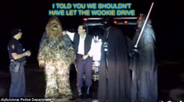I TOLD YOU WE SHOULDN'T HAVE LET THE WOOKIE DRIVE | made w/ Imgflip meme maker