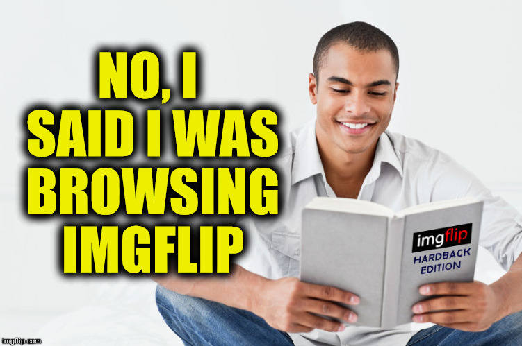 NO, I SAID I WAS BROWSING IMGFLIP | made w/ Imgflip meme maker
