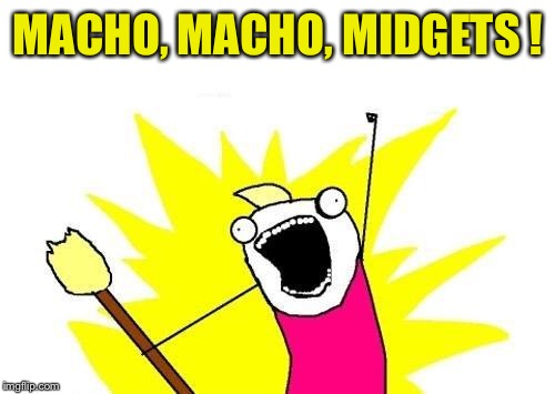 X All The Y Meme | MACHO, MACHO, MIDGETS ! | image tagged in memes,x all the y | made w/ Imgflip meme maker