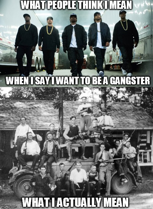 "black americans stole ""gangster"" from the Italian mafia and turned it into rapping about bitches, hoes & twerking & that's ok? 