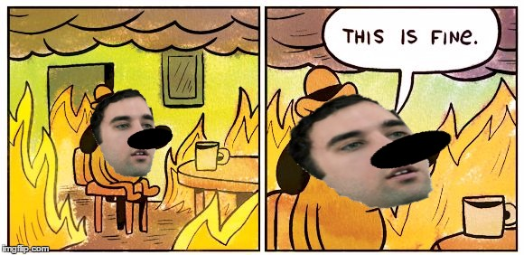 This Is Fine | image tagged in this is fine dog | made w/ Imgflip meme maker