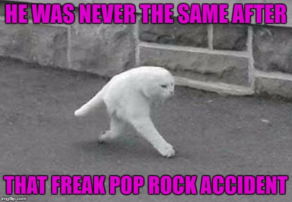 HE WAS NEVER THE SAME AFTER THAT FREAK POP ROCK ACCIDENT | made w/ Imgflip meme maker