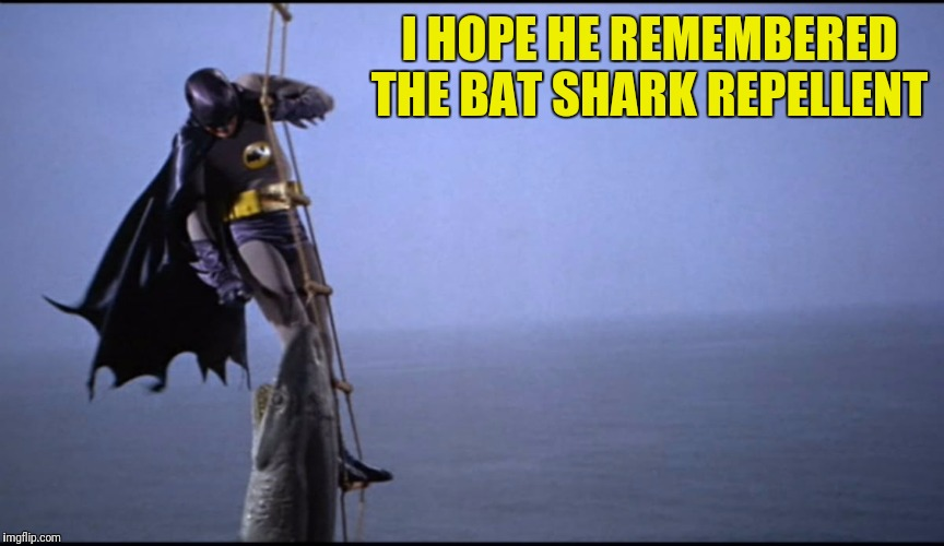 I HOPE HE REMEMBERED THE BAT SHARK REPELLENT | made w/ Imgflip meme maker