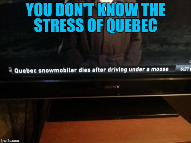 YOU DON'T KNOW THE STRESS OF QUEBEC | made w/ Imgflip meme maker