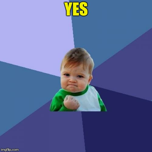 Success Kid Meme | YES | image tagged in memes,success kid | made w/ Imgflip meme maker