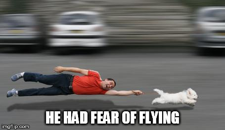 HE HAD FEAR OF FLYING | made w/ Imgflip meme maker