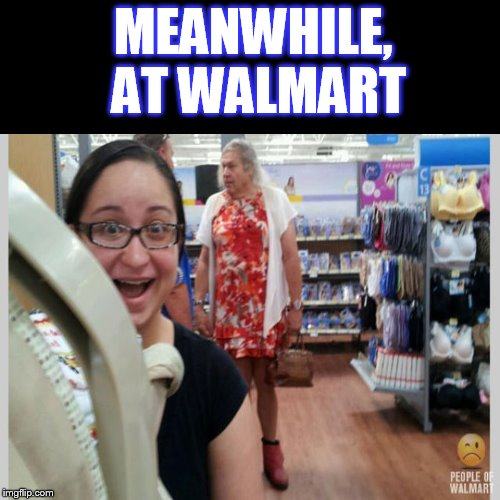 Meanwhile, at Walmart.... | MEANWHILE, AT WALMART | image tagged in funny memes,meanwhile in walmart,walmart,people of walmart | made w/ Imgflip meme maker