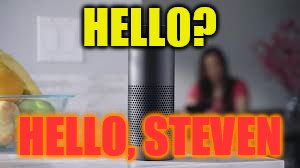 HELLO? HELLO, STEVEN | image tagged in echo | made w/ Imgflip meme maker