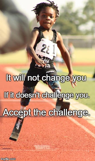 Life challenges | It will not change you Accept the challenge. If it doesn't challenge you. | image tagged in life challenges | made w/ Imgflip meme maker