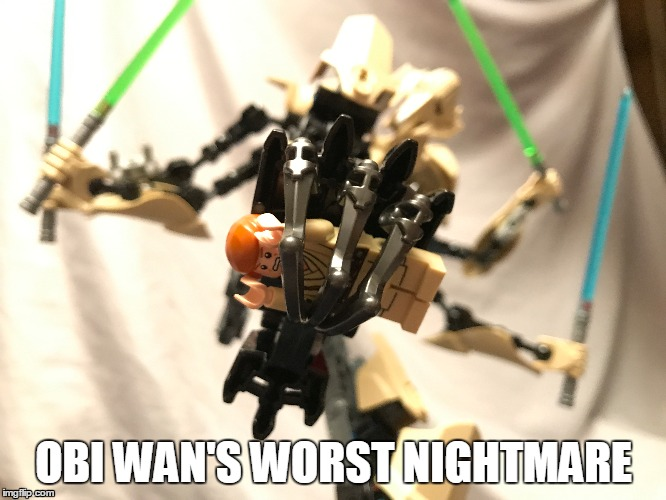 Obi Wan | OBI WAN'S WORST NIGHTMARE | image tagged in star wars,obi wan kenobi,general grievous,nightmare | made w/ Imgflip meme maker