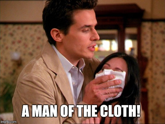 Smell That? | A MAN OF THE CLOTH! | image tagged in drugs,breathe,smell | made w/ Imgflip meme maker
