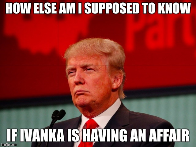 Echo & Alexa - Amazon Devices | HOW ELSE AM I SUPPOSED TO KNOW IF IVANKA IS HAVING AN AFFAIR | image tagged in not sure,memes,funny,amazon,echo,alexa | made w/ Imgflip meme maker