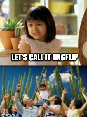 LET'S CALL IT IMGFLIP | made w/ Imgflip meme maker