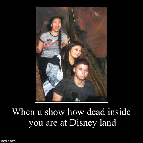 When u show how dead inside you are at Disney land | | image tagged in funny,demotivationals | made w/ Imgflip demotivational maker