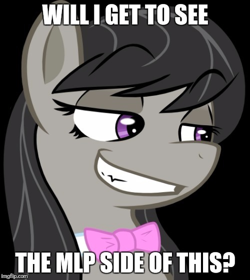 Octavia_Melody's Desire | WILL I GET TO SEE THE MLP SIDE OF THIS? | image tagged in octavia_melody's desire | made w/ Imgflip meme maker