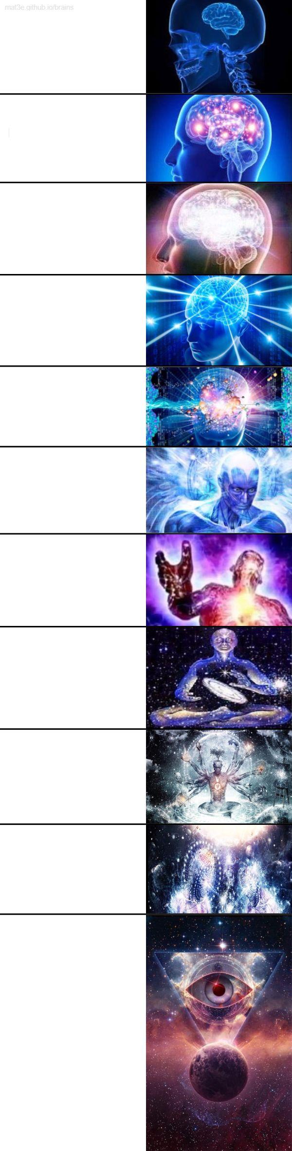 extended expanding brain meme template
