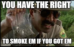 YOU HAVE THE RIGHT TO SMOKE EM IF YOU GOT EM | made w/ Imgflip meme maker