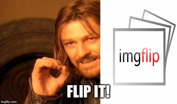 One Does Not Simply Meme | FLIP IT! | image tagged in memes,one does not simply | made w/ Imgflip meme maker