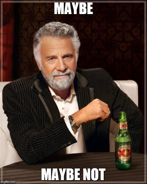 The Most Interesting Man In The World Meme | MAYBE MAYBE NOT | image tagged in memes,the most interesting man in the world | made w/ Imgflip meme maker
