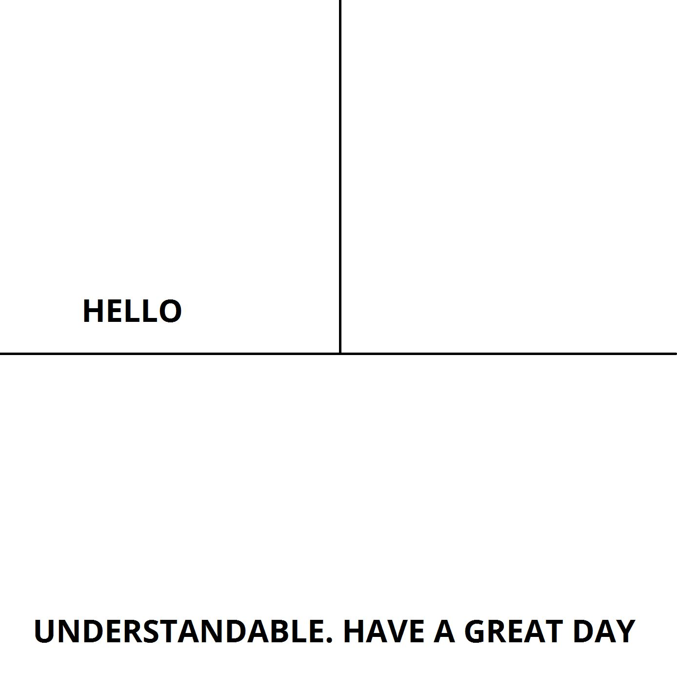 Understandable Have A Nice Day Blank Template Imgflip