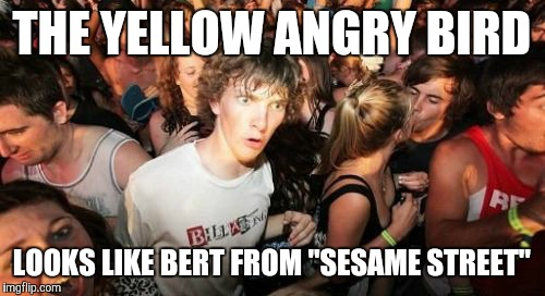 "#AngryBerts | THE YELLOW ANGRY BIRD LOOKS LIKE BERT FROM ""SESAME STREET"" 