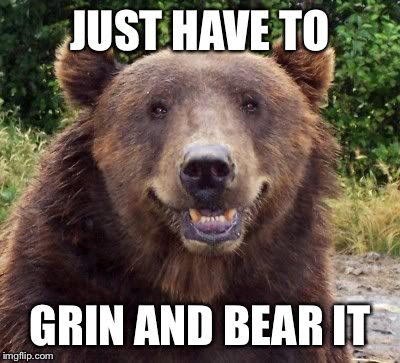 JUST HAVE TO GRIN AND BEAR IT | made w/ Imgflip meme maker