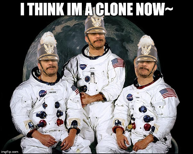 triplet nauts | I THINK IM A CLONE NOW~ | image tagged in triplet nauts | made w/ Imgflip meme maker