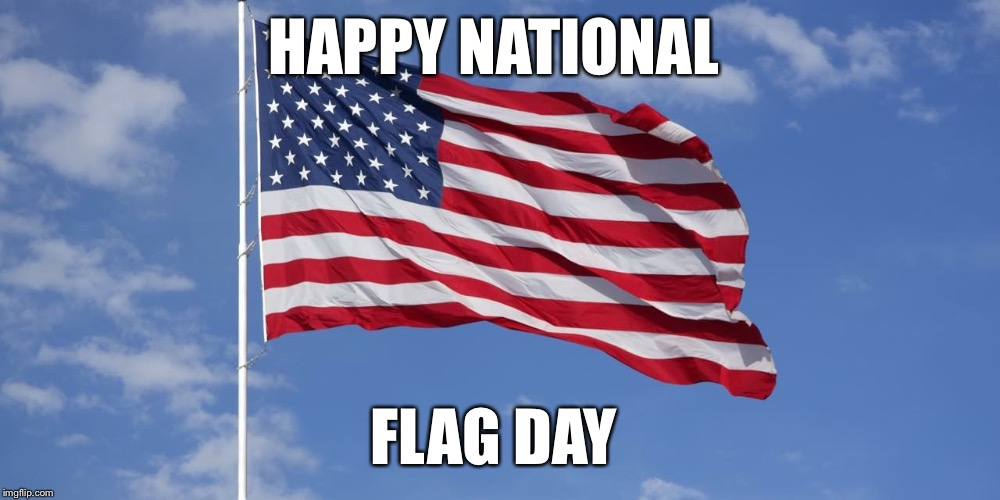 HAPPY NATIONAL FLAG DAY | image tagged in national flag day | made w/ Imgflip meme maker