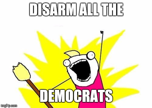 X All The Y Meme | DISARM ALL THE DEMOCRATS | image tagged in memes,x all the y | made w/ Imgflip meme maker