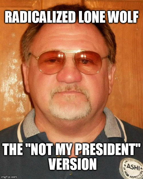 "RADICALIZED LONE WOLF THE ""NOT MY PRESIDENT"" VERSION 