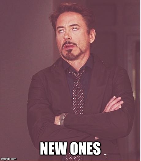 Face You Make Robert Downey Jr Meme | NEW ONES | image tagged in memes,face you make robert downey jr | made w/ Imgflip meme maker