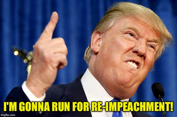 I'M GONNA RUN FOR RE-IMPEACHMENT! | made w/ Imgflip meme maker