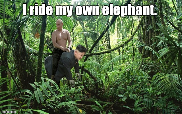 I ride my own elephant. | made w/ Imgflip meme maker
