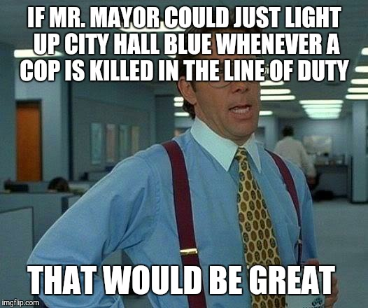 "Instead of turning on the Bat Signal ""as a tribute to Adam West"" 